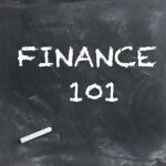 finance 101 chalkboard